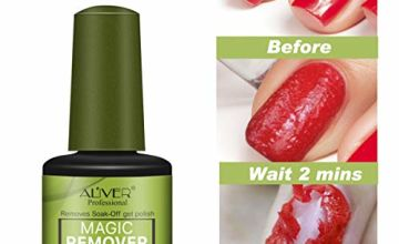Magic Nail Polish Remover, (2pcs) Professional Removes Soak-Off Gel Polish Remover, Nail Polish Clean Degreaser for Nail Art Lacquer Easily Quickly No Hurt Your Nails - 15 ml