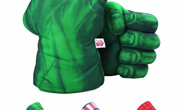 DDGOJUME Big Hulk Smash Hands, 1 Pair of Soft Hulk Boxing Gloves Fist Hand Plush Incredibles Costuome for Kids and Adult Gifts