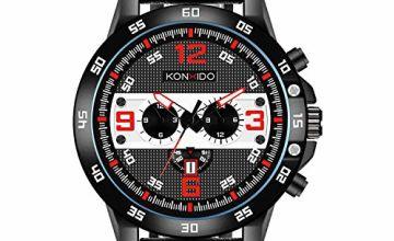 KONXIDO Men's Analog Quartz Watches, Classical Casual Watche