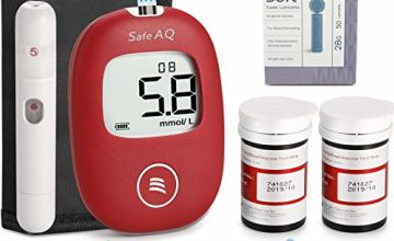 Diabetes Test Kit – Blood Sugar Tester– Blood Glucose Monitoring Kit – 50 Strips Included – Pain Free Lancing Device – for UK Diabetics in mmol/L by Sinocare AQ Smart