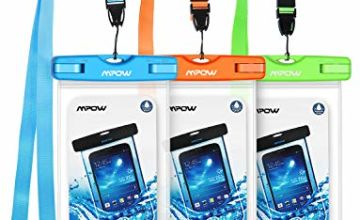 Mpow Waterproof Case 3 Packs IPX8 Underwater Dry Bag Waterproof Pouch with Portable Lanyard for iPhone Xs/Xs Mas/XR/X/8/7/7 Plus/6s/6s plus, Samsung S9/S8/S7, and Other Smartphone up to 6.0 inch