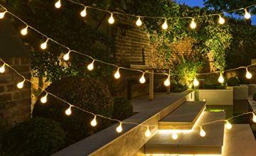 LE LED Festoon Lights, Outdoor Globe String Lights