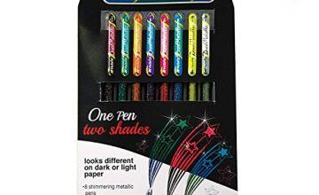 Pentel Hybrid Dual Metallic Liquid Gel Roller Pen YK110/8-M - Pack of 8 Pens in 16 Shimmering Metallic Colours