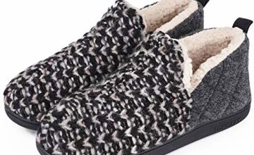 LongBay Ladies' Slipper Knitted Cosy Soft Plush Fleece Lined