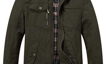 Wantdo Men's Cotton Windbreaker Army Jacket