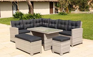BackYard Furniture Barcelona Luxury 10 Seater Casual Dining