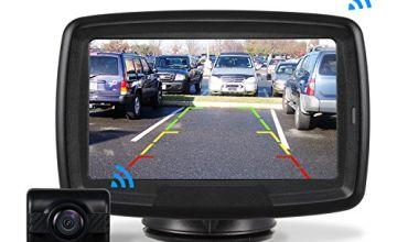 AUTO-VOX TD-2 Digital Wireless Reversing Camera IP68 Waterproof Backup Camera Stable Signal Reverse Camera Kit with Night Vision Car Rear View Camera 4.3'' LCD Monitor 12V-24V