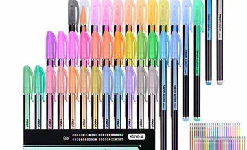 96 Pack Gel Pens for Adult Coloring Book 48 Unique Gel Pen Plus 48 Refills for Adult Coloring Books Drawing