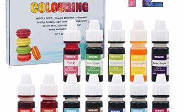 Food Colouring - 12 Colours x 6ml Food Dye Concentrated Liquid Cake Food Colouring Set