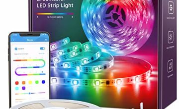 DreamColour LED Strip Lights, Govee Music Sync Phone Controlled Lighting Strip Kit, Waterproof Colour Changing Rope Light for Party Room Bedroom TV Kitchen Cabinet Decoration with UK Plug