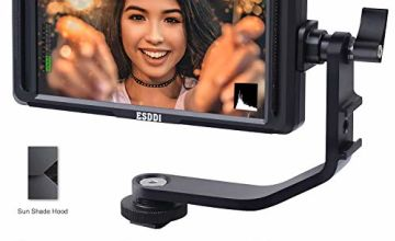 ESDDI F5 Camera Monitor 5 Inch Full HD IPS Screen Video Field Monitor Support 4K HDMI Input 1920 x 1080 Rechargeable with Li-ion Battery, Battery Charger and USB Adjustable for Canon Nikon Sony