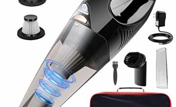 DOFLY Handheld Vacuum Cordless, 8500PA Super Suction Hand Vacuum Cleaner, Rechargeable Hand Vac with LED Light, Lightweight Wet Dry Vacuum for Home/Pet/Car Black&Gold