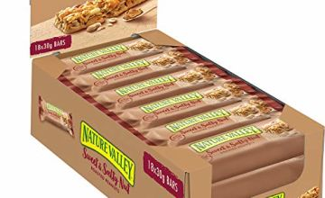 Nature Valley Sweet and Salty Nut Peanut Cereal Bars, 30 g, Pack of 18
