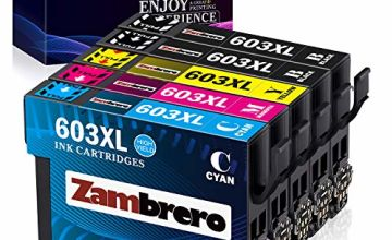 Zambrero 603XL Ink Cartridges Replacement for Epson 603 XL Ink for Use with Epson Expression Home XP-3100 XP-4100 XP-2100 XP-2105 XP-3105 XP-4105, Epson Workforce WF-2810 WF-2830 WF-2835 WF-2850