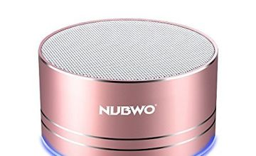 Bluetooth Speaker,Nubwo Wireless Portable Travel Mini Speaker with Superior Sound,5-hour Playtime,Build-in Mic,Low Harmonic Distortion,Patented Bass Port,Hands-free Call,TF Card Slot(Gules)