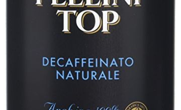 Pellini Top 100% Arabica Naturally Decaffeinated Coffee – Roasted, Ground Decaf Coffee Tin – Decaffeinated Italian Coffee for Moka Pot & Espresso, 250 gr