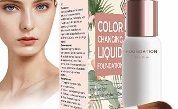 Foundation Liquid, Colour Changing Foundation, Flawless Foundation, Long-lasting liquid foundation, make-up base, flawless color change foundation, make-up concealer for face and neck