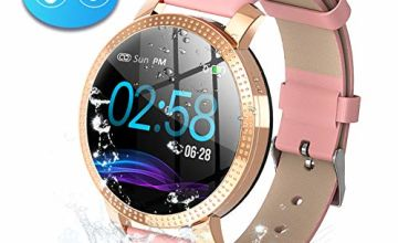 Byttron Fitness Watch for Women, Fitness Tracker Touch Screen Smartwatch IP68 Waterproof Smart Watch with Heart Rate Monitor Pedometer Step Counter Sleep Monitor Stopwatch for iOS Android Phone