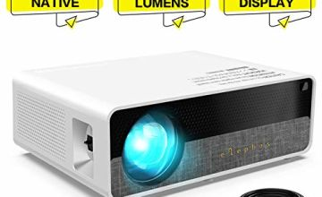 """ELEPHAS Projector Q9 Native 1080P HD Video Projector, 6000 Lumens up to 300"""" Image Display Ideal for PPT Business Presentations Home Theater Entertainment Parties Games"""