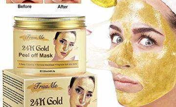 24k Gold Face Mask, Blackhead Mask, Peel Off Face Masks, Blackhead Remover Masks, Gold Face Mask for Anti Aging Anti Wrinkle Facial Treatment Pore Minimizer, Acne Scar Treatment & Blackhead Remover