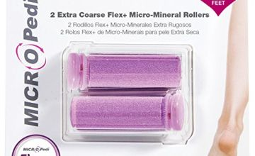 Authentic Emjoi Micro Pedi Extra Coarse Flex+ Micro-Mineral Anti-Bacterial Rollers (Pack of 2)
