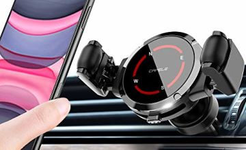 Car Phone Mount, Mobile Phone Holder for Car Air Vent 360° Roller Structure Car Phone Holder Compatible Phone 11/XS Max/XS/XR/8 Plus/7/6S/6P,Galaxy S10+/9/8/7 Note 10/9/8,4.5-6.5 Inches all phones