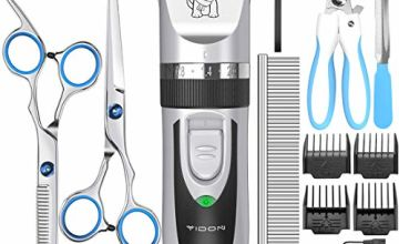 YIDON Dog Clippers, Cordless Dog Grooming Clippers Low Noise,Quiet Rechargeable Pet Hair Trimmer,Professional Dog Grooming Kit with Scissors Combs, Best Shaver Hair Clipper for Dogs Cats Pets