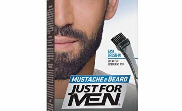 Just For Men Moustache and Beard Facial Hair Colouring Kit, Real Black M55