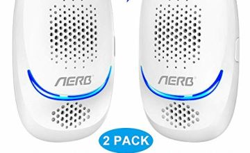 [2020 Upgraded ] Ultrasonic Pest Repeller, Aerb 10W Plug-in Insect Repeller, Electronic Portable Pet Safe Device-Repels Away Fleas, Bugs,Mosquito, Mice, Insect, Ants, Spiders, Rat & More-2 Pack