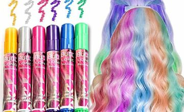 Hair Chalk Set, Temporary Hair Colour, Non-Toxic Instant Hair Coloring Chalk Pens Set, Temporary Hair Chalks Colour Set for Makeup Hair Chalk Pens for Girls Boys, Blendable, Washable