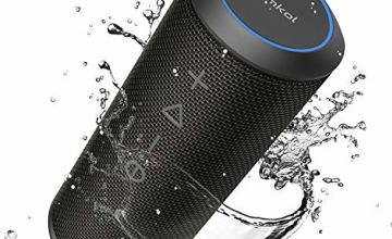 Bluetooth Speaker, Zamkol Portable Wireless Speakers with Mic, 360 Degree Sound, BluetoothV4.2 Waterproof Dustproof for Party, Beach, Shower