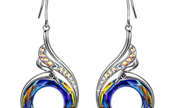Kate Lynn Valentine Gifts for Her Earrings Gifts for Her Mum Earrings Womens Gifts for Women Anniversary Birthday Gifts for Her Phoenix Crystals Hoop Earrings Alloy Earrings Jewellery for Women
