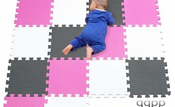 qqpp Mat, Soft EVA Foam Baby Play Mats For Floor, Jigsaws Puzzle Board Portable Foldable. Baby play mats in twelve combinations. Colour-FHZ