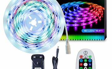 LED Strip Light SELIAN 5M Dreamcolor RGB 5050 LED Rope Lights Waterproof Color Changing Lighting Strips with 28K Remote + 12V Power Supply for Bedroom Kitchen Christmas Indoor and Outdoor Decoration