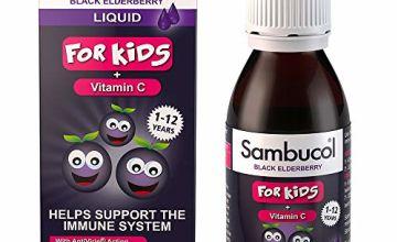 Save on Sambucol Natural Black Elderberry for Kids | Vitamin C | Immune Support Supplement | 120ml and more