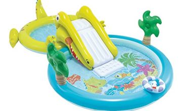 Intex – Water Games Centre with Slide – Two Swimming Pools (180 and 132 litres) (57164)