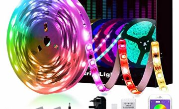 LED Strips Lights, L8star LED Lights SMD 5050 RGB 20m/65.6ft Lights Strips with Remote Bluetooth Control Sync with Music Apply for TV, Bedroom, Party and Home Decoration(4x5m)
