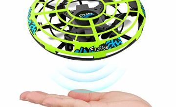 Epoch Air 1 UFO Mini Drone, Kids Hand Helicopter RC Quadcopter Infrared Induction Remote Control Flying Aircraft Games Gifts for Boys Girls Adults Indoor Outdoor Garden Ball Toys, Green