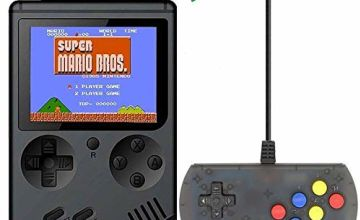 Retro Handheld Game Console FC System Plus Extra Joystick Portable Mini Controller 3 Inch Support TV 2 Player 168 Classic Game Console Present for Boy Kids Adult black