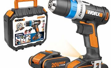 WORX AI Cordless Drill Driver (inc x2 2.0Ah Batteries)
