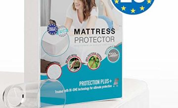 Dreamzie - Waterproof Mattress Protector - Fabric 100% Cotton - Deep Pocket - Breathable, Hypoallergenic, Anti-Mite, Anti-Mold - OEKO TEX - 15 Year Warranty