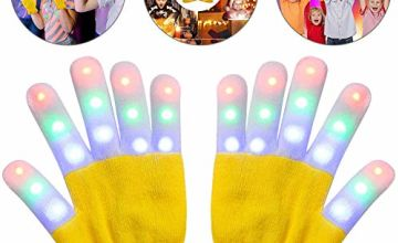 bdao gift Light Up Gloves, Finger Light Flashing Led Gloves