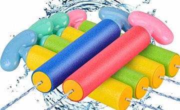 balnore Water Gun, Squirt Gun 6 Pcs Water Blaster with Long Range up to 32ft Summer Pool Toys for Kid&Adult