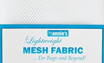 by Annie Light Weight Mesh Fabric 1 8 x 54-inch 100% Polyester White, Acrylic, Multicoloured, 0.09 x 7.4 x 9.4 cm