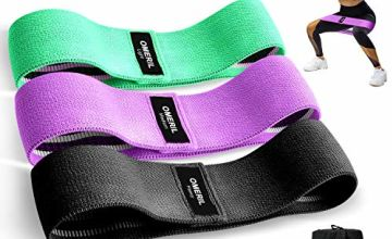 OMERIL Resistance Bands, Fabric Resistance Bands Set with 3 Resistance Levels for Hips & Glutes, Non-Slip Hip Exercise Resistance Bands for Women Men Strength Training,Yoga,Pilate,Fitness [Set of 3]