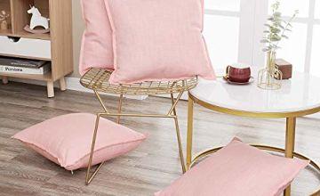 Deconovo Set of 4 Faux Linen Cushion Covers