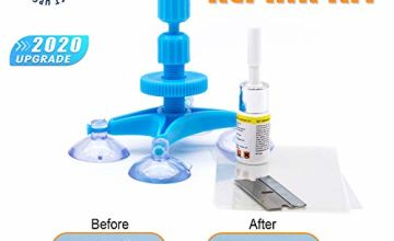 Upgraded Auto Windshield Repair Tool,Newest Generation Car Windshield Repair Kit with Windshield Repair Resin for Auto Glass Windshield Crack Chip Scratch, Chips, Cracks, Bulll's-Eyes and Stars