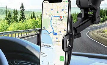 Mpow Car Phone Holder,Dashboard/Windshield Mobile Phone Car Cradles, Washable Gel Pad Car Phone Mount Compatible iPhone 11Pro Max/11 Pro/XR/XSMax/X/8,Galaxy S10/S9/S8/S7,Google, HTC, LG etc