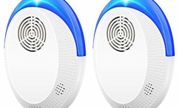 Ultrasonic Pest Repeller 2 Pack Insect Repellent Control Plug in Electronic Mice Mouse Repellent Effective for Control Insects, Mice, Bugs, Flea, Mosquitoes, Ants, Roaches, Spiders