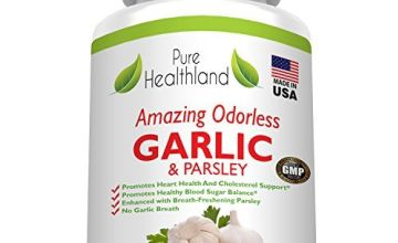 Amazing ODORLESS Garlic and Parsley Supplement Softgels for Men and Women. Equal to 500mg Fresh Garlic Bulbs.